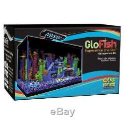 10-Gallon Aquarium Kit Led Light With Filter Conditioner and Fish Food Gift New