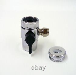 Aquarium 6 Stage RO 2 DI refillable Water Filter System with 100 GPD Membrane