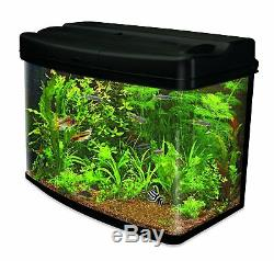 Aquarium Fish Tank 64 Litre Curved Glass Cartridge Filter Cold Water Tropical