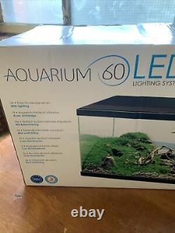 Ciano 58 Litre Aquarium with 60 LED Light, Heater and CF80 Filter, New