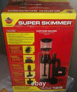 Coralife Super Skimmer for up to 125 gal with Pump Factory Sealed