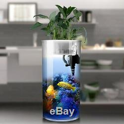 Cylindrical Fish Tank Aquarium Small and Medium Water-free Filter Ecological