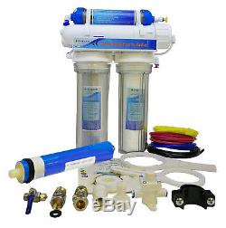 Finerfilters 4 Stage Aquatic Reverse Osmosis System RO Unit & DI Chamber (75GPD)