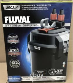 Fluval 207 Performance Canister Filter NEW DAMAGE BOX
