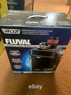 Fluval 407 (A449) 100gal Perfomance Canister Filter Black (NEW)