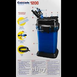 Fresh Marine Aquariums Canister Filter Crystal Clear Water Filtration System New