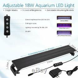 Hygger Horizon 8 Gallon LED Glass Aquarium Kit for Starters with 7W Power Filter