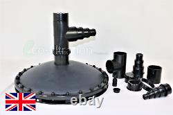 Rubber Weighted Suction Dome Air Diffuser Koi Fish Pond Tank Pump Filter Pipe